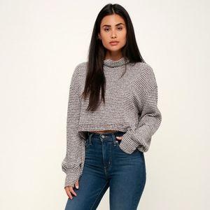 Free People BK Turtleneck Cropped Sweater